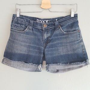 Roxy Flap Pocket Denim Jean Shorts